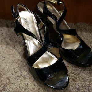 Ladies Rampage Black Patent Heels size 6.5